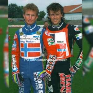 1995 Rune Holta Lars Gunnestad World Team Cup at Pocking fot Mike Patrick