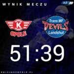 Kolejarz Opole nie dał szansy wyjścia z 40 punktów Landshut Devils. Podusmowanie meczu.